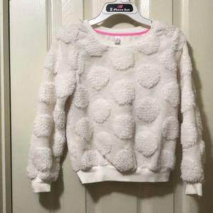 Girls Off White Sweater - Size 6/6x